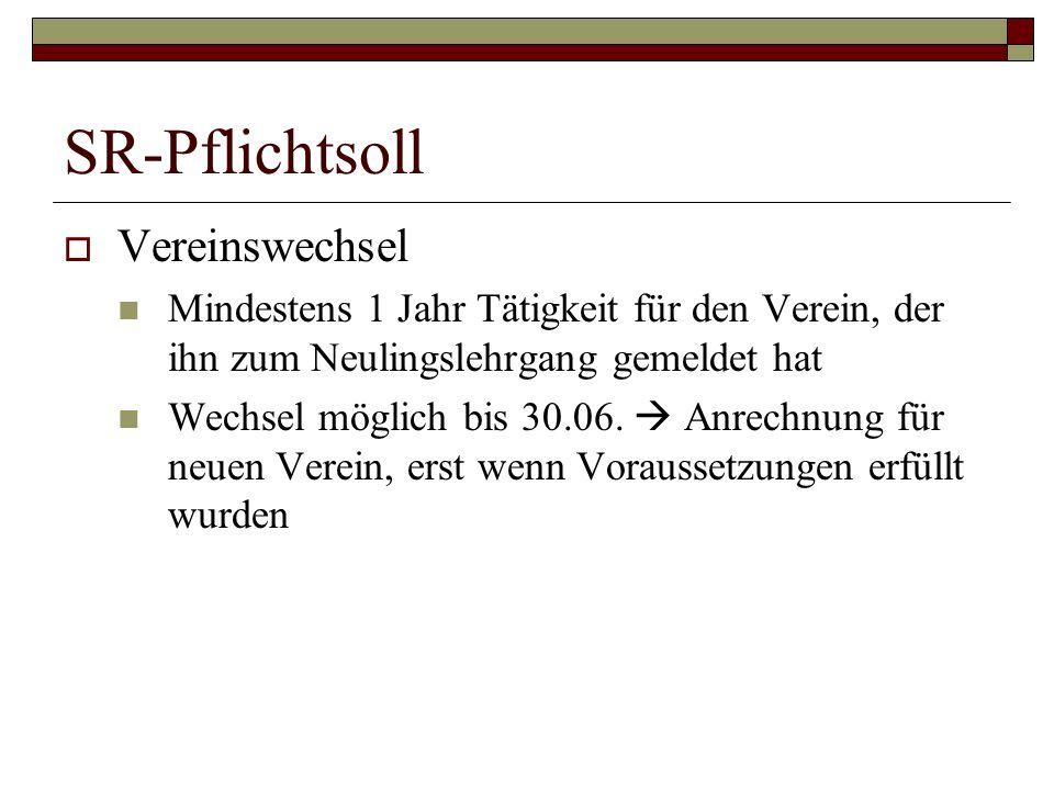 SR-Laufbahn (Patrick Hartmann, 1991) Prüfung 2005 07/08: Kreisoberliga, SRA Verbandsliga Januar 09: Gruppenliga, SRA Hessenliga 09/10 bis 10/11: Verbandsliga seit 11/12: Hessenliga 12/13: ???