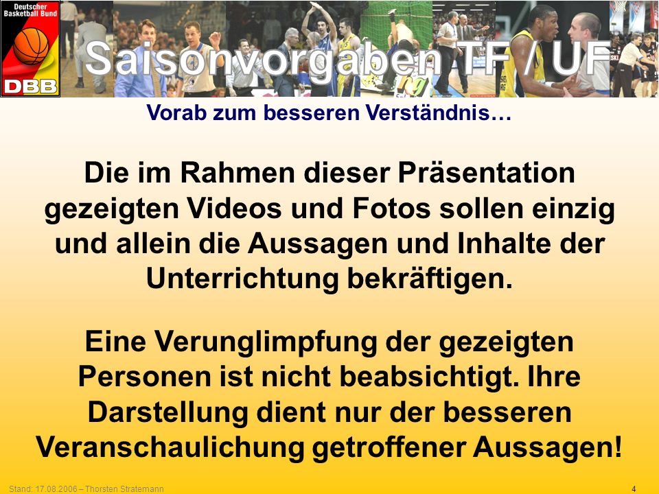 4Stand: 17.08.2006 – Thorsten Stratemann Vorab zum besseren Verständnis… Die im Rahmen dieser Präsentation gezeigten Videos und Fotos sollen einzig un