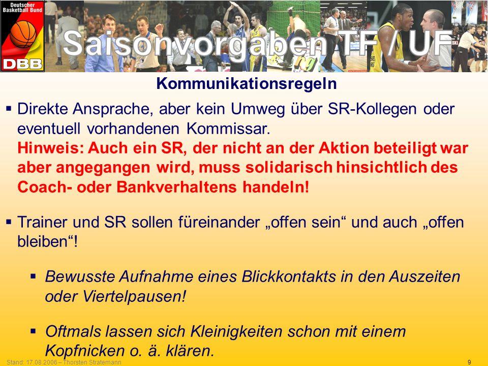 9Stand: 17.08.2006 – Thorsten Stratemann Direkte Ansprache, aber kein Umweg über SR-Kollegen oder eventuell vorhandenen Kommissar. Hinweis: Auch ein S