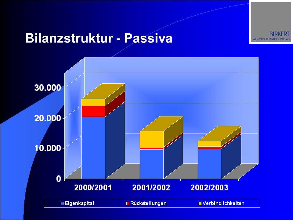 Bilanzstruktur - Passiva