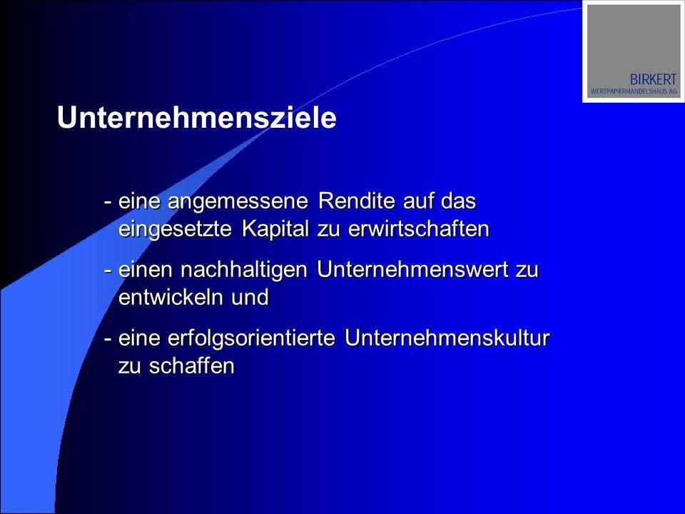 Birkert Wertpapierhandelshaus AG Aktienkursentwicklung - -14.12.2001 Dividende EUR 1,00 zzgl.