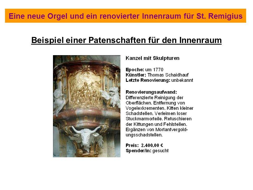 Eine neue Orgel und ein renovierter Innenraum für St. Remigius Beispiel einer Patenschaften für den Innenraum