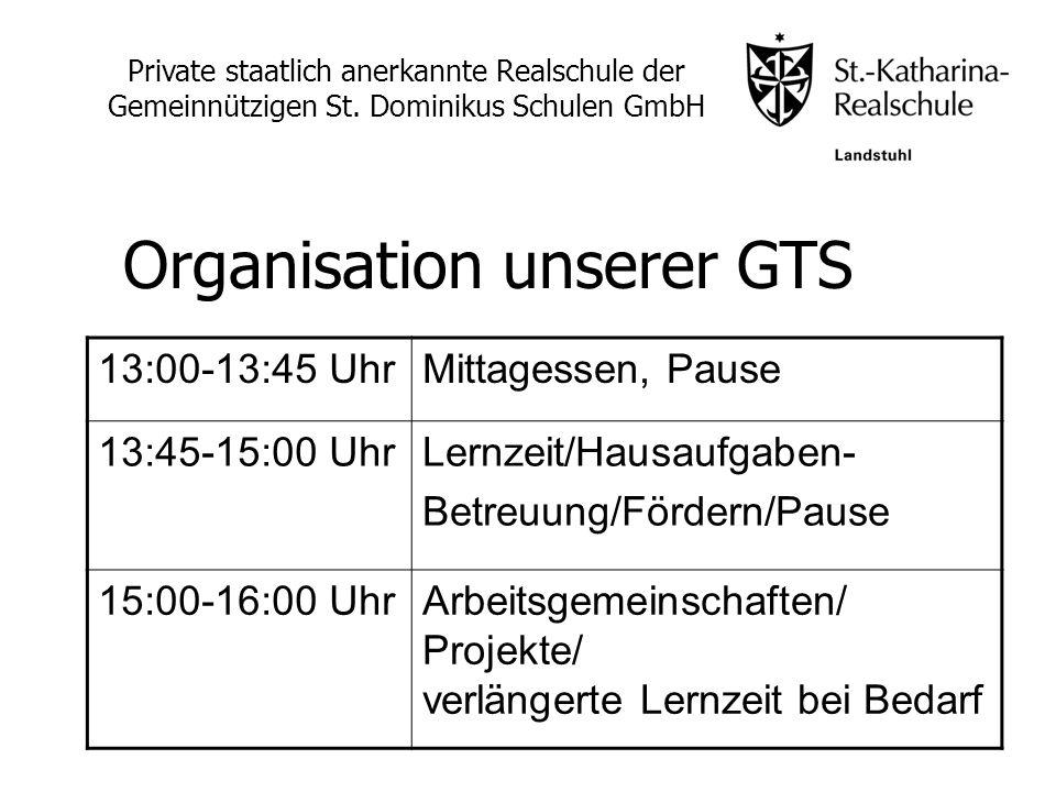 13:00-13:45 UhrMittagessen, Pause 13:45-15:00 UhrLernzeit/Hausaufgaben- Betreuung/Fördern/Pause 15:00-16:00 UhrArbeitsgemeinschaften/ Projekte/ verlän