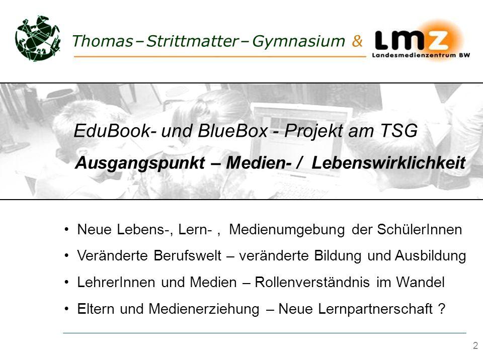 2 Thomas – Strittmatter – Gymnasium & Neue Lebens-, Lern-, Medienumgebung der SchülerInnen Veränderte Berufswelt – veränderte Bildung und Ausbildung L