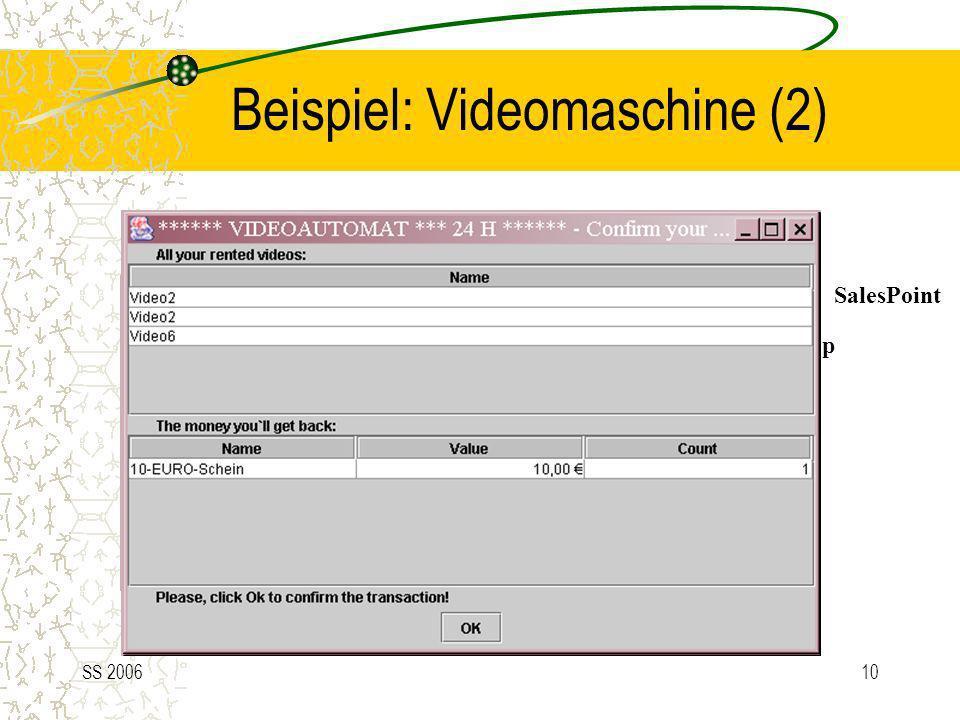 SS 200610 Shop Beispiel: Videomaschine (2) SalesPoint