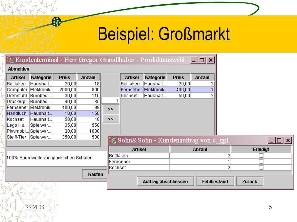 SS 20066 Übersicht(2) – Paketstruktur Metriken: 18431 LOC (ohne Dokumentation und Leerzeilen) 254 Klassen