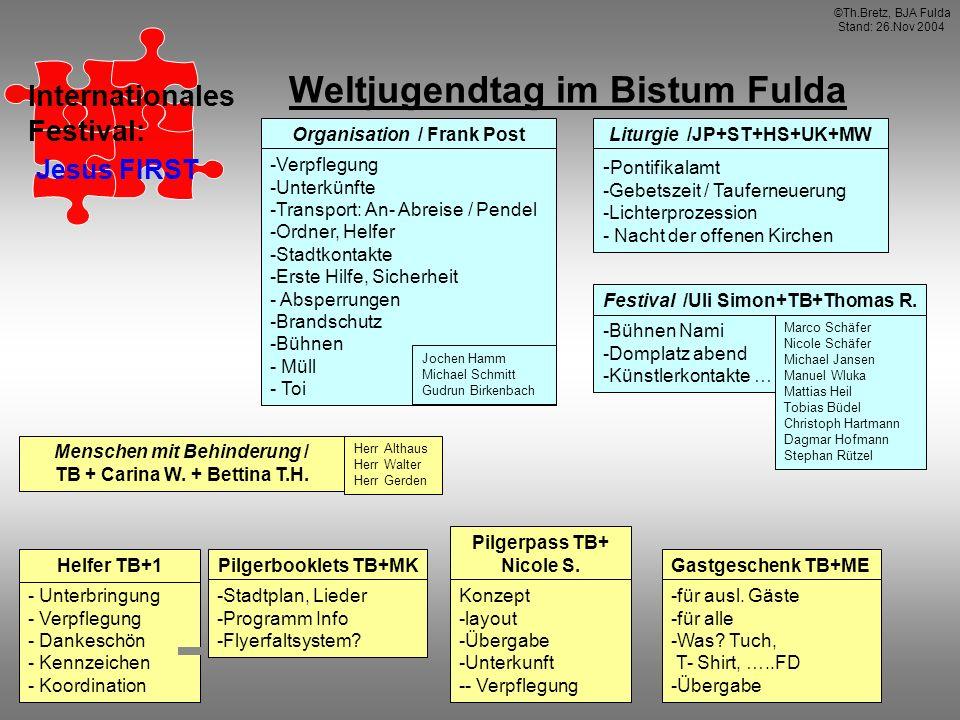 Weltjugendtag im Bistum Fulda Pilgerbooklets TB+MK Liturgie /JP+ST+HS+UK+MW - Pontifikalamt -Gebetszeit / Tauferneuerung -Lichterprozession - Nacht de