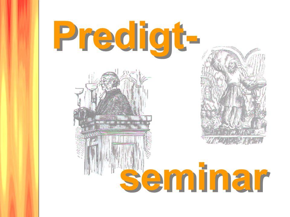 seminar Predigt-