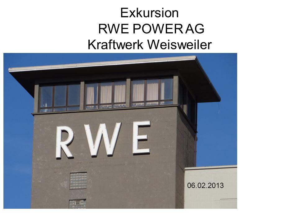 Exkursion RWE POWER AG Kraftwerk Weisweiler 06.02.2013