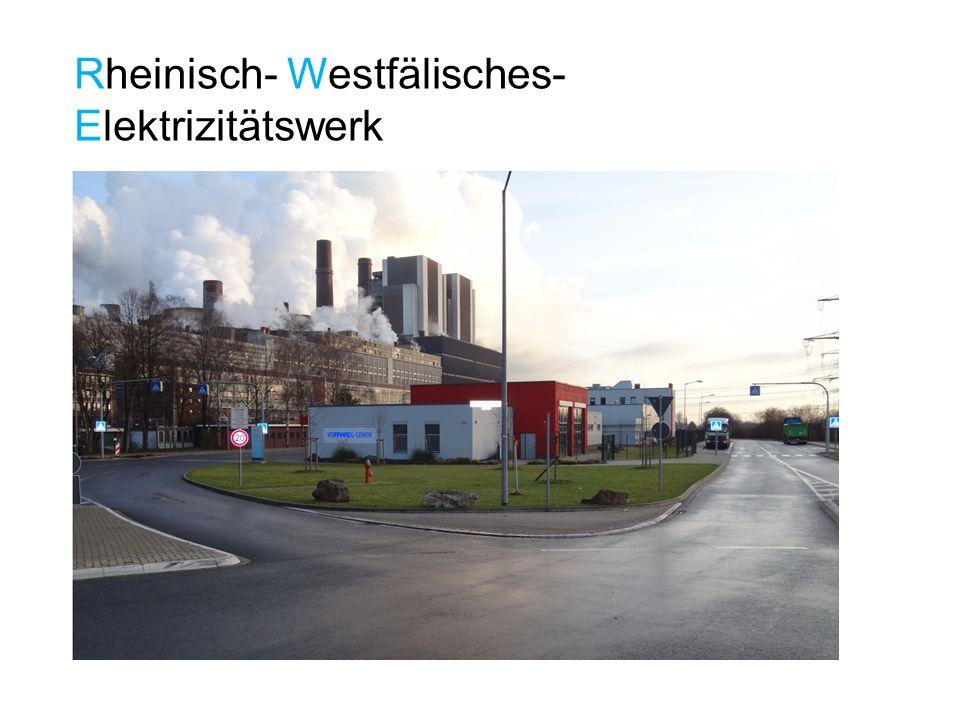 Das Kraftwerk Weisweiler wird auch Braun- kohlendampfkraftwerk genannt, da dort Strom letztendlich durch Dampf erzeugt wird.