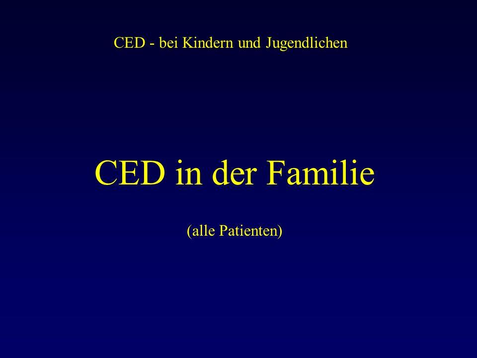 CED - bei Kindern und Jugendlichen CED in der Familie (alle Patienten)