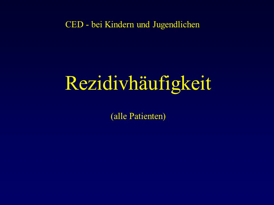 CED - bei Kindern und Jugendlichen Rezidivhäufigkeit (alle Patienten)