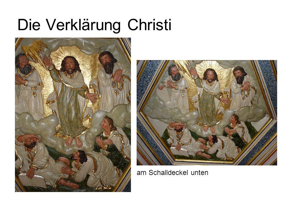 Die Verklärung Christi am Schalldeckel unten