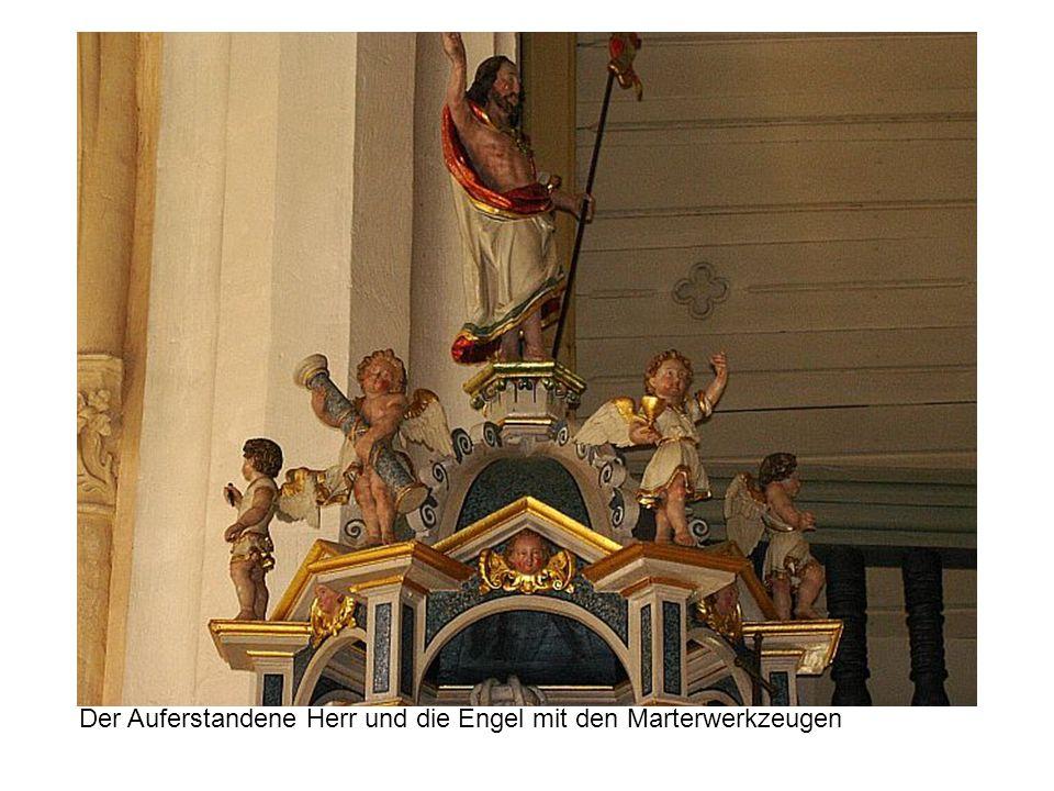 Der Auferstandene Herr und die Engel mit den Marterwerkzeugen