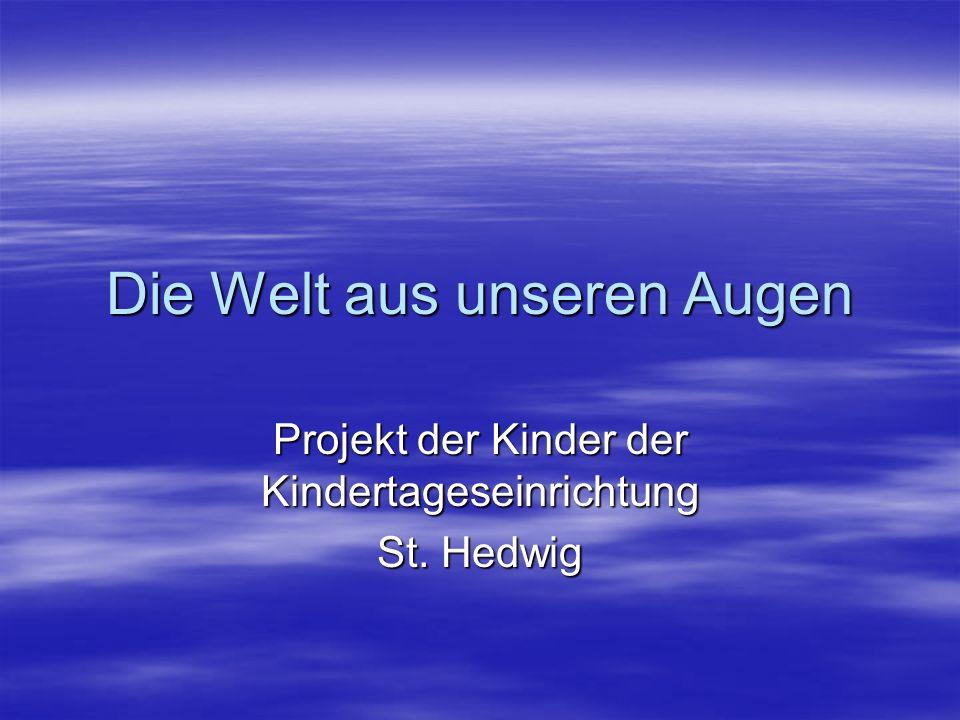 Die Welt aus unseren Augen Projekt der Kinder der Kindertageseinrichtung St. Hedwig