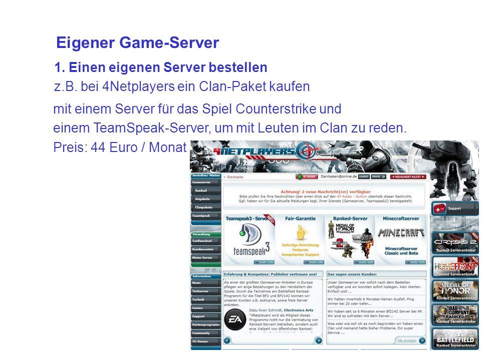 1. Einen eigenen Server bestellen z.B.
