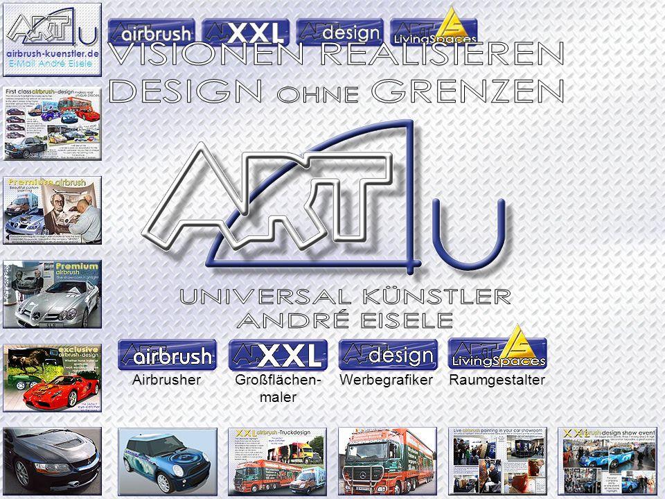 AirbrusherGroßflächen- maler WerbegrafikerRaumgestalter airbrush-kuenstler.de E-Mail André Eisele