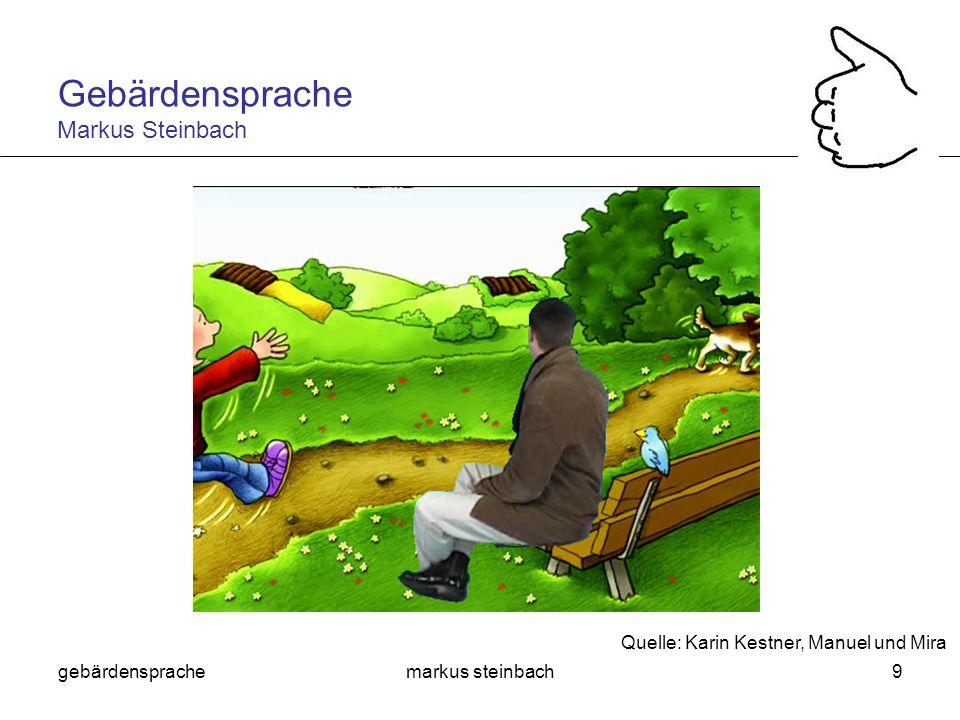 gebärdensprachemarkus steinbach30 Sind Gebärdensprachen wie Lautsprachen.