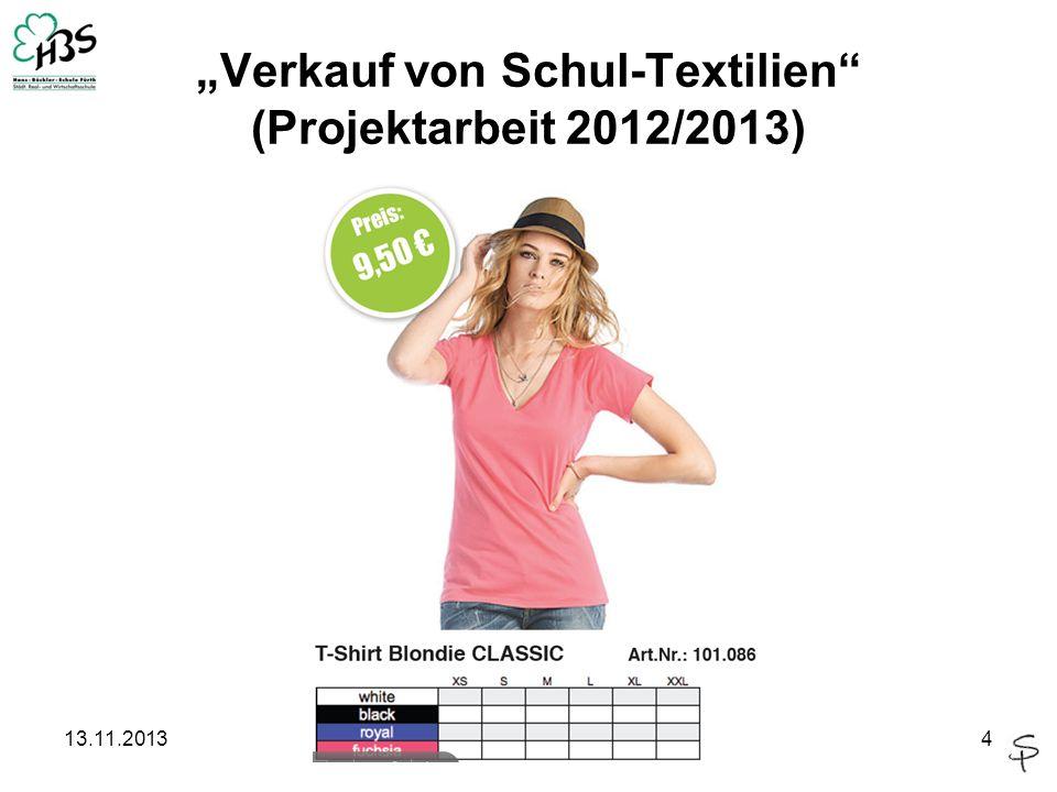 13.11.20134 Verkauf von Schul-Textilien (Projektarbeit 2012/2013)