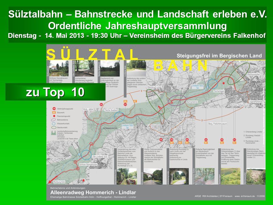 Sülztalbahn – Bahnstrecke und Landschaft erleben e.V.