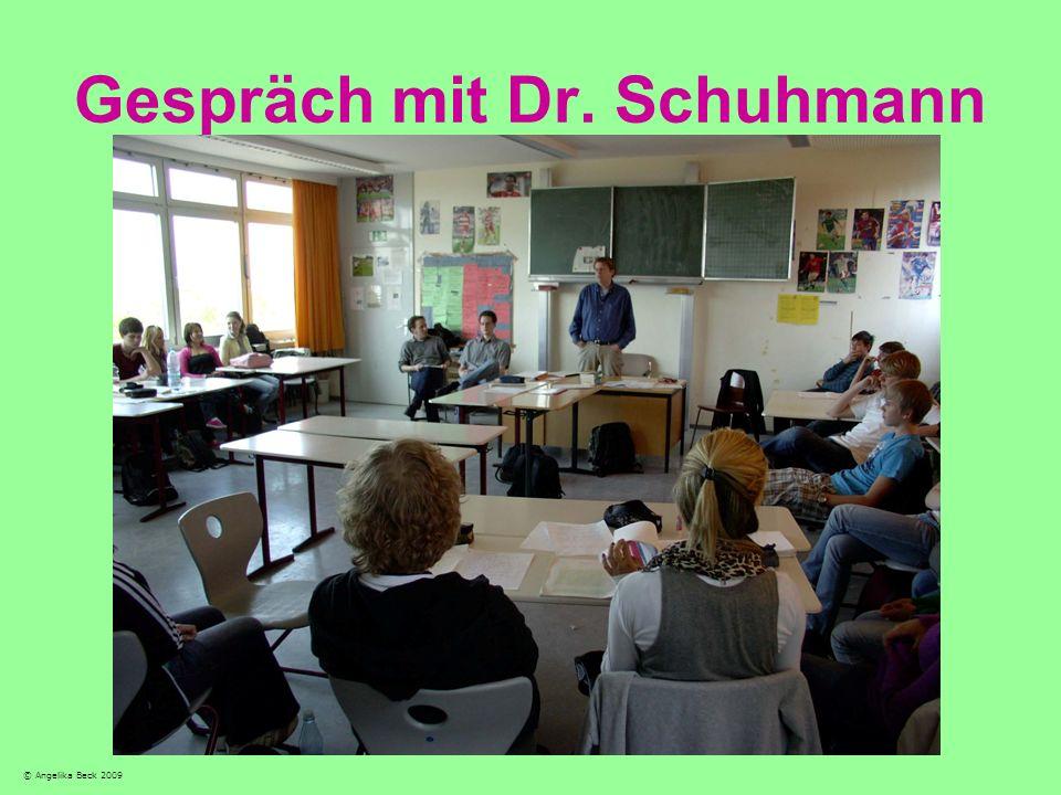 Gespräch mit Dr. Schuhmann