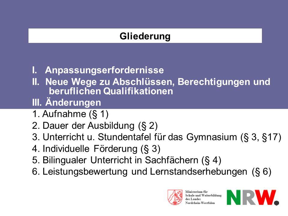 6.Leistungsbewertung und Lernstandserhebungen § 6 Abs.