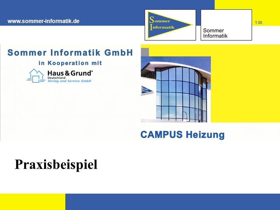 www.sommer-informatik.de Praxisbeispiel 1.00
