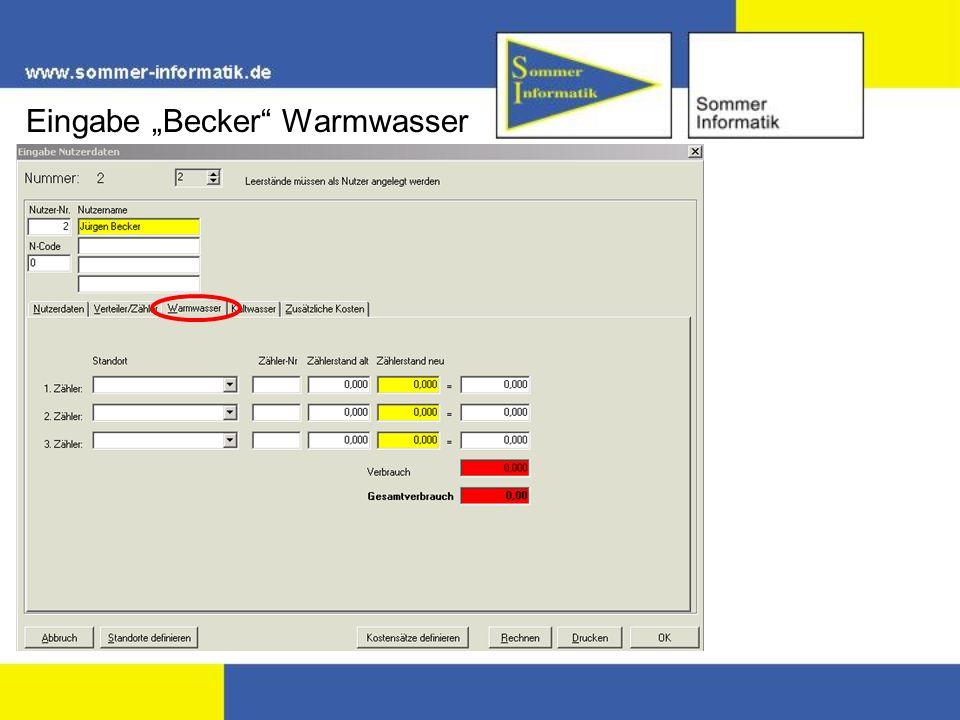 Eingabe Becker Warmwasser