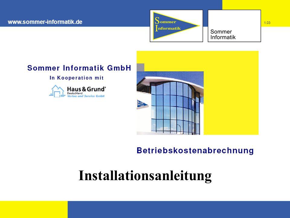 www.sommer-informatik.de Installationsanleitung 1.03