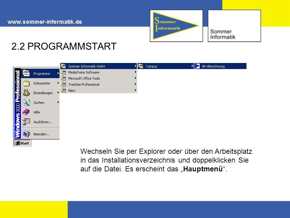 Wechseln Sie per Explorer oder über den Arbeitsplatz in das Installationsverzeichnis und doppelklicken Sie auf die Datei.
