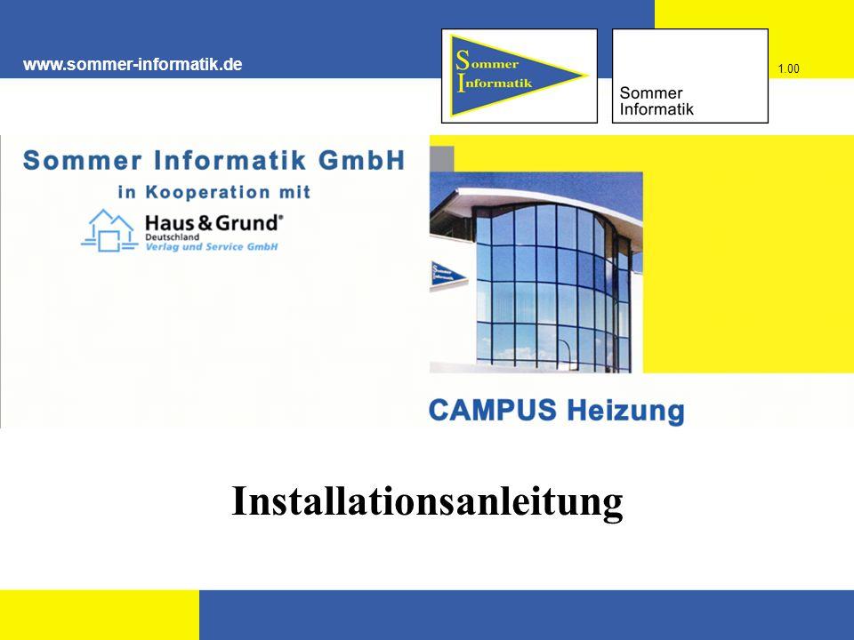 www.sommer-informatik.de Installationsanleitung 1.00
