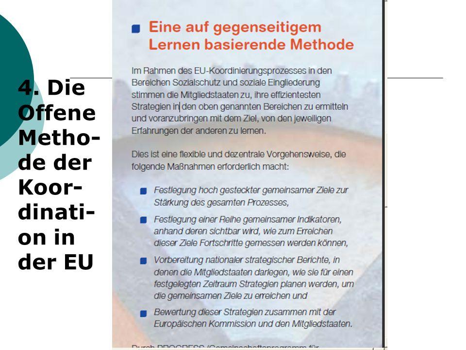 4. Die Offene Metho- de der Koor- dinati- on in der EU