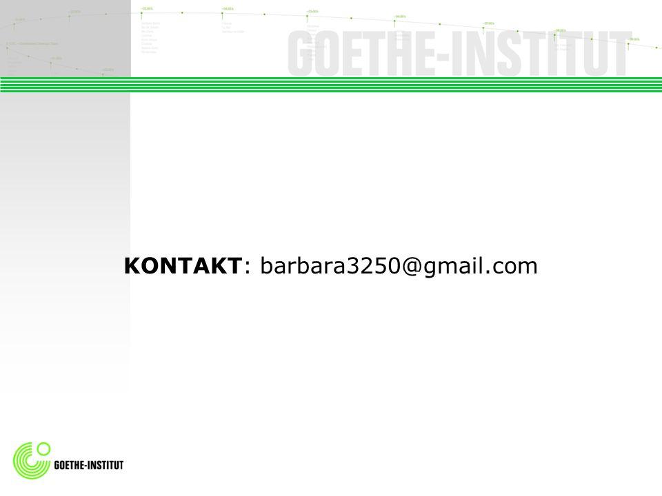 KONTAKT: barbara3250@gmail.com