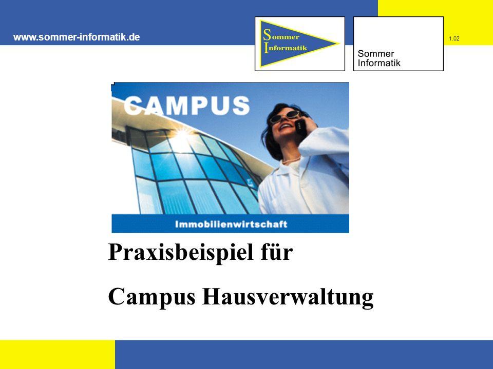 www.sommer-informatik.de Praxisbeispiel für Campus Hausverwaltung 1.02
