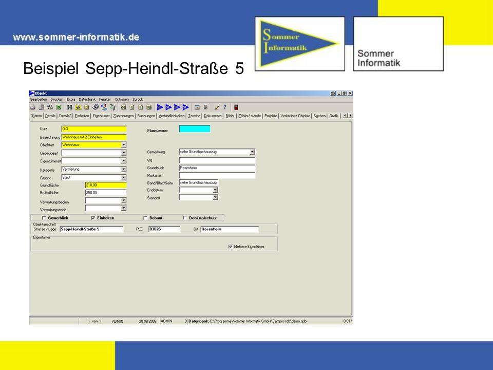 Beispiel Sepp-Heindl-Straße 5