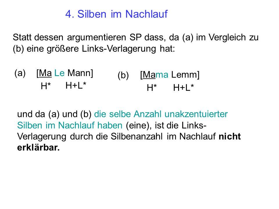 4. Silben im Nachlauf a. [No he wrote to NAN] L-L% H* b.