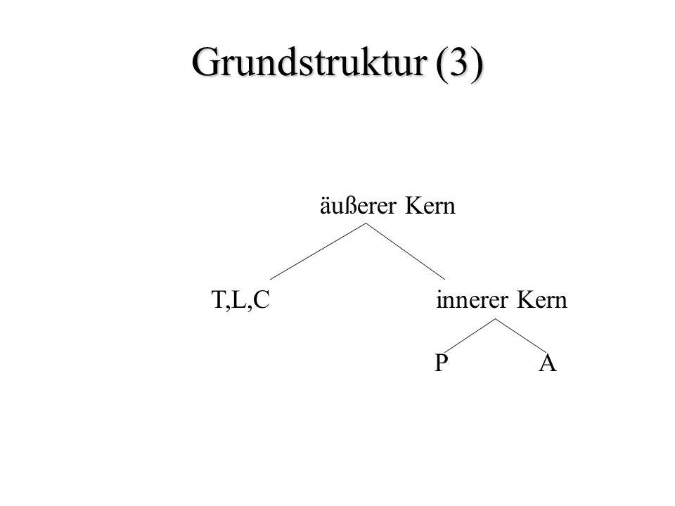 Grundstruktur (3) äußerer Kern T,L,C innerer Kern P A