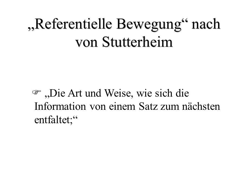 Grundstruktur (1) Beispiel: Gestern fuhren Müllers nach Heidelberg. Merkmale: