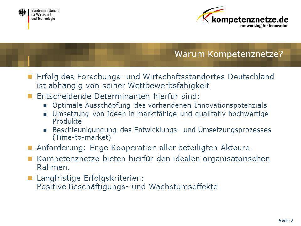 Seite 7 Erfolg des Forschungs- und Wirtschaftsstandortes Deutschland ist abhängig von seiner Wettbewerbsfähigkeit Entscheidende Determinanten hierfür