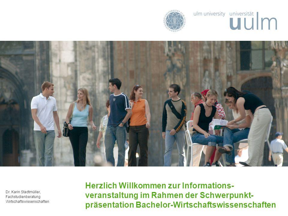 Dr. Karin Stadtmüller, Fachstudienberatung Wirtschaftswissenschaften Herzlich Willkommen zur Informations- veranstaltung im Rahmen der Schwerpunkt- pr