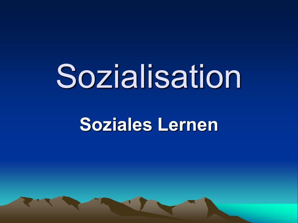 Sozialisation Soziales Lernen