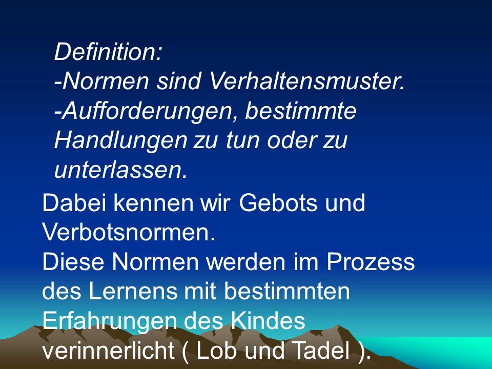 Definition: -Normen sind Verhaltensmuster.