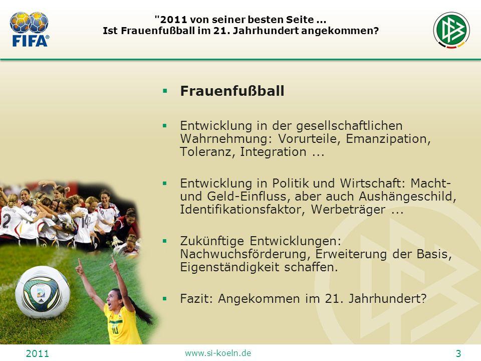 2011 www.si-koeln.de 14 2011 von seiner besten Seite...