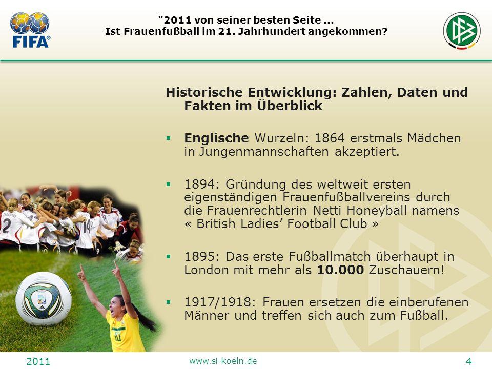 2011 www.si-koeln.de 15 2011 von seiner besten Seite...
