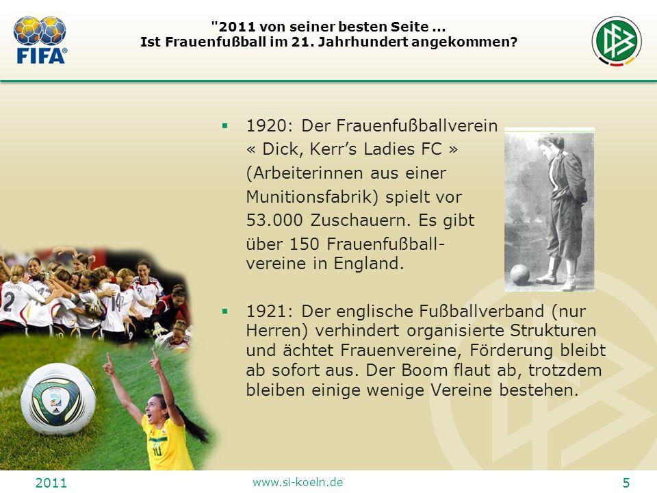 2011 www.si-koeln.de 6 2011 von seiner besten Seite...