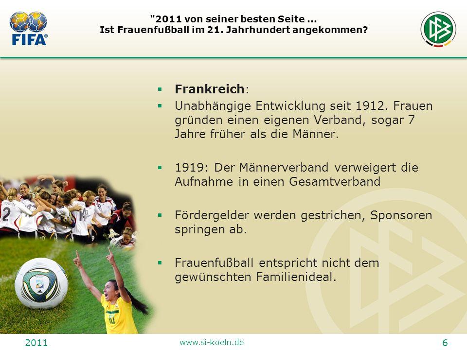 2011 www.si-koeln.de 17 2011 von seiner besten Seite...