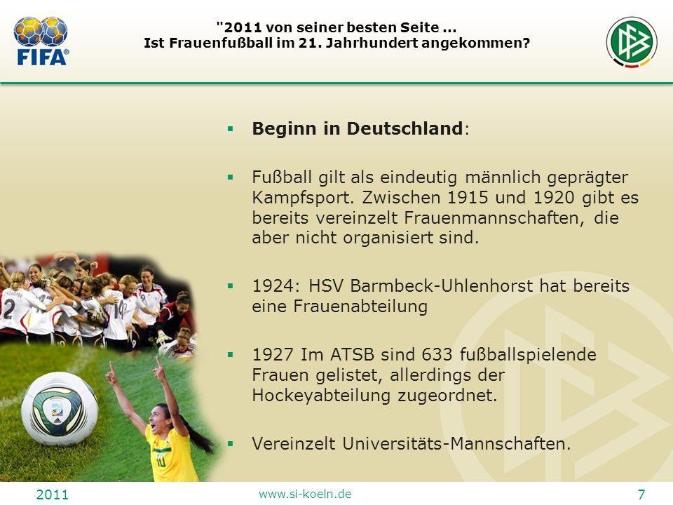 2011 www.si-koeln.de 18 2011 von seiner besten Seite...