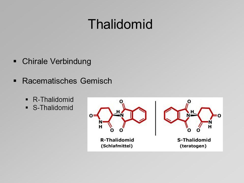 Thalidomid Chirale Verbindung Racematisches Gemisch R-Thalidomid S-Thalidomid