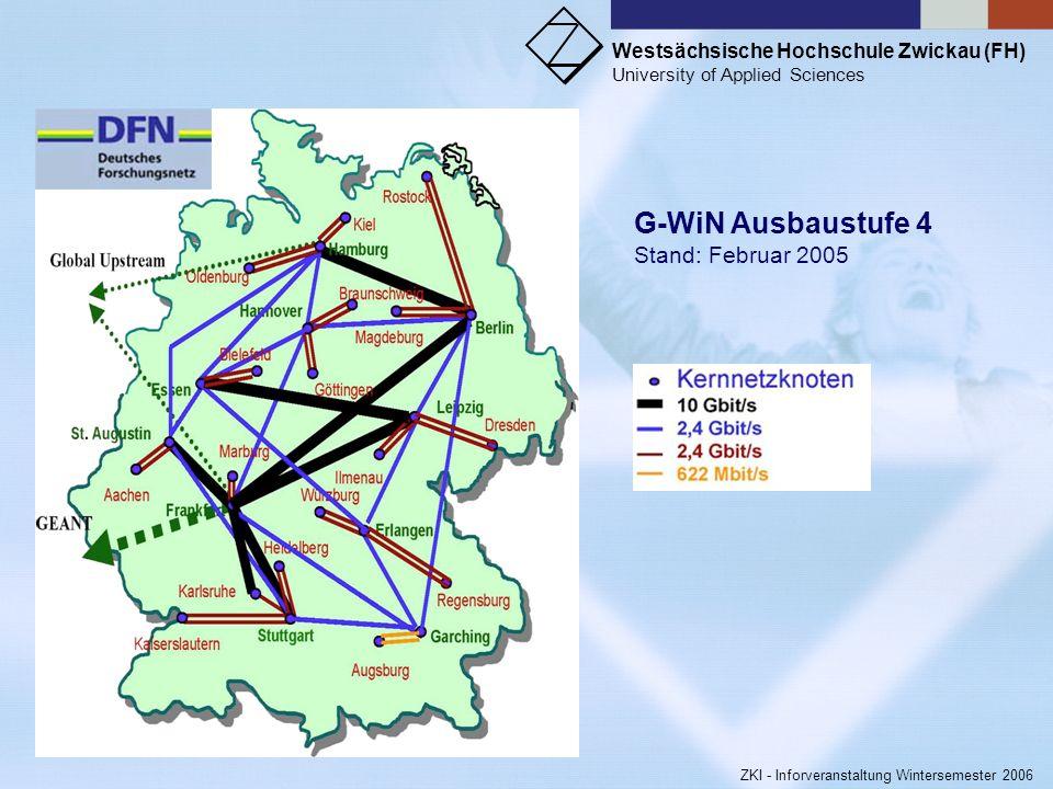 Westsächsische Hochschule Zwickau (FH) University of Applied Sciences ZKI - Inforveranstaltung Wintersemester 2006 Bei Benutzung der Magnetkarten zur