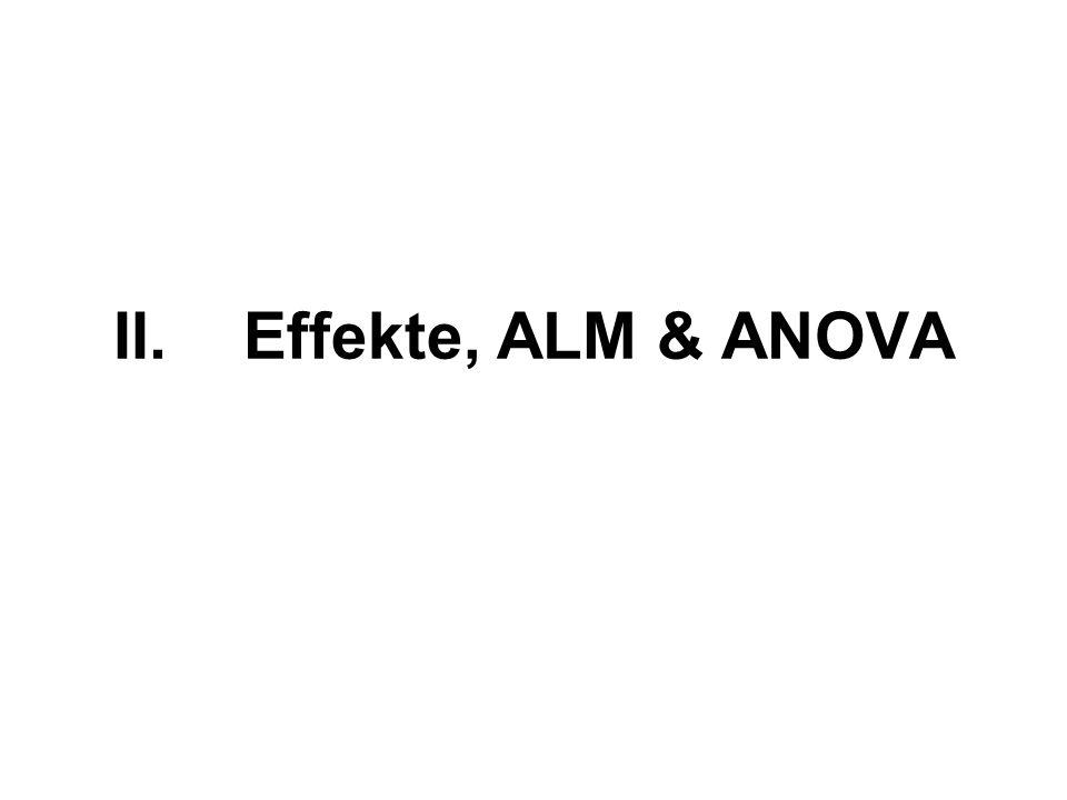 II.Effekte, ALM & ANOVA